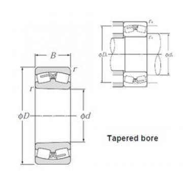360 mm x 480 mm x 90 mm  NTN 23972K Spherical Roller Bearings